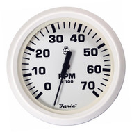 Faria Dress White 4 Tachometer - 7,000 RPM (Gas - All Outboards)