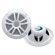 Boss Audio MR6W 6.5 Dual Cone Marine Coaxial Speaker (Pair) - 180W - White