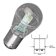 Lunasea Bayonet LED Bulb BA15D - 10-30VDC/1W/75 Lumens - Warm White