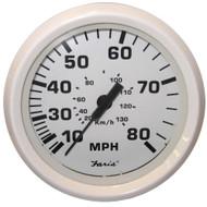 Faria Dress White 4 Speedometer - 80MPH (Mechanical)