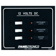 Paneltronics Standard DC 3 Position Breaker Panel w/LEDs