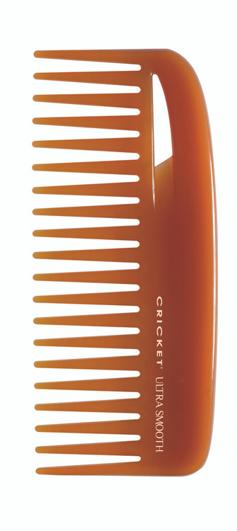 Conditioning Comb        •Separates hair easily without combing out body. Designed for mid-length and thick hair.  •A blend of Argan and Olive oils, plus Keratin Protein infused plastic, glides through hair •Helps add shine and smoothness to hair •Reduces the appearance of frizz •Wont' leave residue on hands