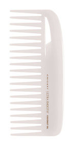 Conditioning Comb         Separates hair easily without combing out body. Designed for mid-length and thick hair.  •A blend of Coconut oil and Keratin protein infused plastic, glides through hair •Helps add shine and smoothness to hair •Reduces the appearance of frizz •Will not leave residue on hands