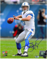Matthew Stafford Autographed Detroit Lions 8x10 Photo #3 - Throwing Deep