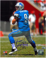 Matthew Stafford Autographed Detroit Lions 8x10 Photo #2 - Dropping Back to Pass