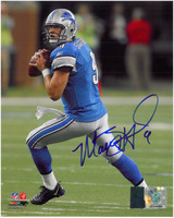 Matthew Stafford Autographed Detroit Lions 8x10 Photo #1 - Home Action