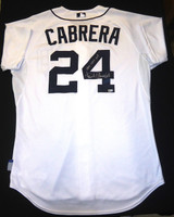 Miguel Cabrera Game Used 2014 Home Jersey - Autographed and Inscribed