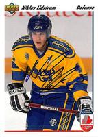 Nicklas Lidstrom Autographed 1991-92 Upper Deck Rookie Card