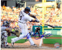 Miguel Cabrera Autographed Detroit Tigers 8x10 Photo #2 - 2012 Home Swinging Horizontal