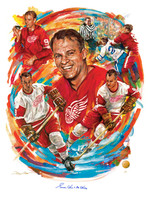 """Gordie Howe - A Legend for the Ages"" Autographed Giclée"