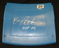 "Barry Sanders Autographed Pontiac Silverdome #20 Seatback inscribed ""HOF 04"""