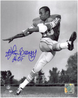 Lem Barney Autographed Detroit Lions 8x10 Photo #1 - Posed Action
