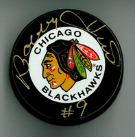 Bobby Hull Autographed Chicago Blackhawks Game Puck
