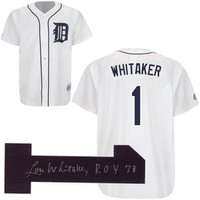 "Lou Whitaker Autographed Detroit Tigers Jersey w/ ""78 ROY"" Inscription"