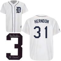 Larry Herndon Autographed Detroit Tigers Jersey