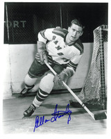 Allan Stanley Autographed New York Rangers 8x10 Photo #3