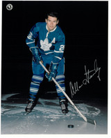 Allan Stanley Autographed Toronto Maple Leafs 8x10 Photo #2