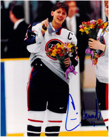 Cammi Granato Autographed USA Hockey 8x10 Photo #1