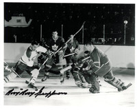 "Bernie ""Boom-Boom"" Geoffrion Autographed Montreal Canadiens 8x10 Photo #3"