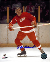Alex Delvecchio Autographed Detroit Red Wings 8x10 Photo #1