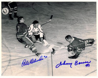 Alex Delvecchio and Johnny Bower Autographed All-Star Game 8x10 Photo