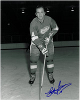 Bobby Baun Autographed Detroit Red Wings 8x10 Photo #1