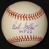 """Bob Feller Autographed Baseball - Official Major League Ball w/ """"HOF"""""""