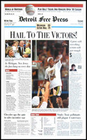 """Hail to the Victors"" 1989 Michigan Wolverines Free Press Poster"
