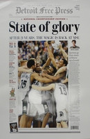 """State of Glory"" 2000 Michigan State Spartans Free Press Poster"