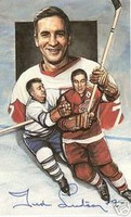 Ted Lindsay Autographed Legends of Hockey Card