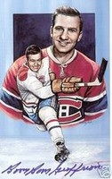 "Bernie ""Boom-Boom"" Geoffrion Autographed Legends of Hockey Card"