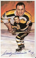 Woody Dumart Autographed Legends of Hockey Card
