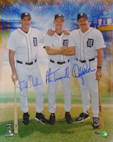 Kirk Gibson, Alan Trammell, Lance Parrish Autographed 16x20 Photo