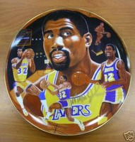 "Magic Johnson Autographed 10 1/4"" Gartlan Plate"
