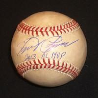 "Miguel Cabrera Autographed 2013 Game Used Baseball Inscribed ""2013 AL MVP"""