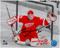 Chris Osgood Autographed Detroit Red Wings 8x10 Photo #2 - Action Spotlight