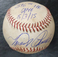 Miguel Cabrera Autographed Game Used Baseball