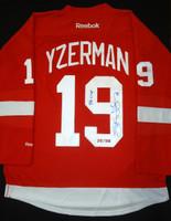 Steve Yzerman Autographed 1998 Cup Jersey
