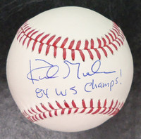 "Kirk Gibson Autographed Baseball ""84 WS Champs"""
