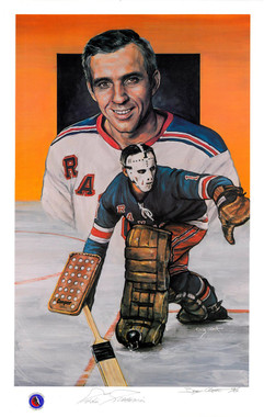 Eddie Giacomin Autographed Lithograph