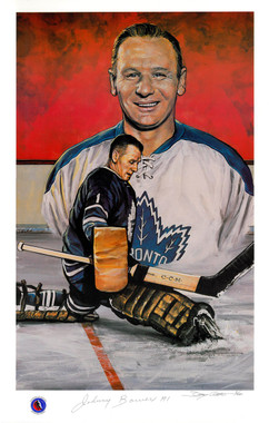 Johnny Bower Autographed Lithograph