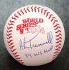 Alan Trammell Autographed 1984 World Series Baseball