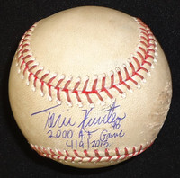 Torii Hunter Autographed Baseball - Game Used Ball from 2000th Hit Game - Inscribed