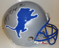 Barry Sanders Autographed Detroit Lions Throwback Deluxe Replica Helmet (Pre-Order)
