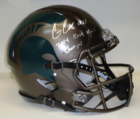 Connor Cook Autographed MSU Spartans Speed Bronze Authentic Helmet