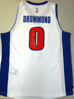 Andre Drummond Autographed Detroit Pistons Home Jersey