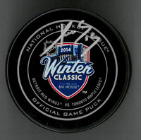 Pavel Datsyuk Autographed 2014 Winter Classic Official Game Puck