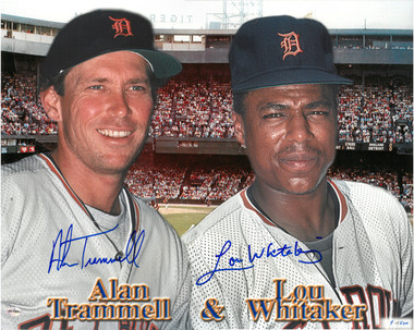 Alan Trammell & Lou Whitaker Autographed Photo