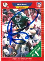 Andre Rison Autographed 1989 Pro Set Rookie Card