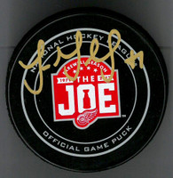 Luke Glendening Autographed Farewell to the Joe Official Game Puck